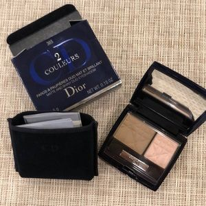 Dior 2 color Nude Look matte and shiny eye duo